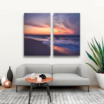 Brushstone Outer Banks Sunset I 2-pc. Gallery Wrapped Canvas Wall Art