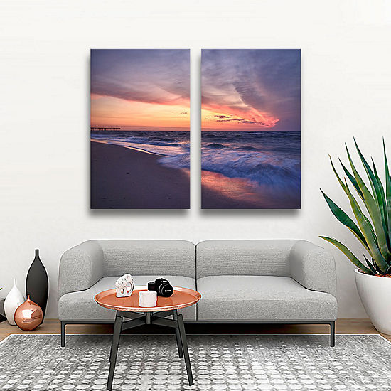 Brushstone Outer Banks Sunset I 2 Pc Gallery Wrapped Canvas Wall Art