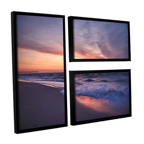 Brushstone Outer Banks Sunset I 3-pc. Flag FloaterFramed Canvas Wall Art