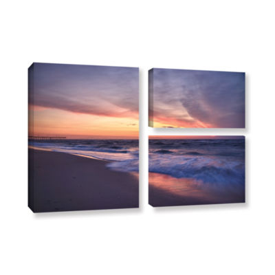 Brushstone Outer Banks Sunset I 3-pc. Flag GalleryWrapped Canvas Wall Art