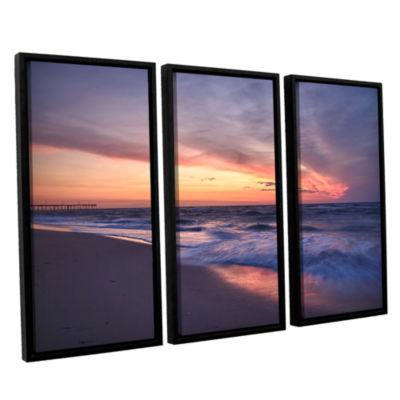 Brushstone Outer Banks Sunset I 3-pc. Floater Framed Canvas Wall Art