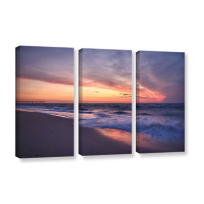 Brushstone Outer Banks Sunset I 3-pc. Gallery Wrapped Canvas Wall Art
