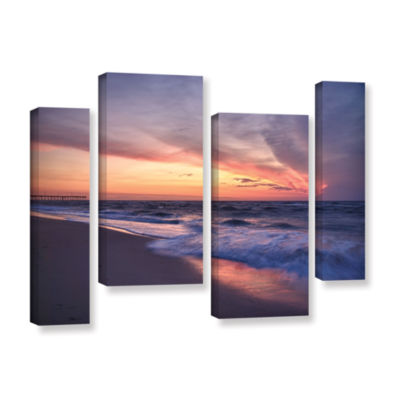 Brushstone Outer Banks Sunset I 4-pc. Gallery Wrapped Staggered Canvas Wall Art
