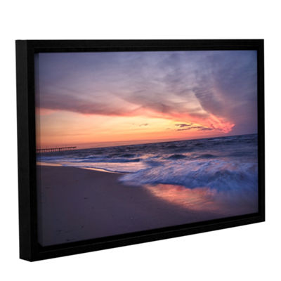 Brushstone Outer Banks Sunset I Gallery Wrapped Floater-Framed Canvas Wall Art