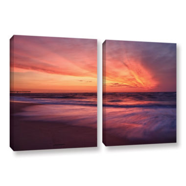 Brushstone Outer Banks Sunset II 2-pc. Gallery Wrapped Canvas Wall Art