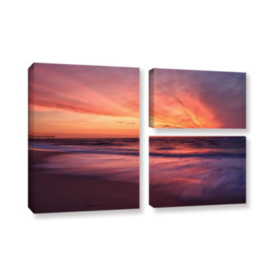 Brushstone Outer Banks Sunset II 3-pc. Flag Gallery Wrapped Canvas Wall Art