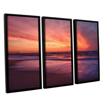 Brushstone Outer Banks Sunset II 3-pc. Floater Framed Canvas Wall Art