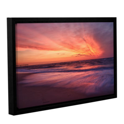 Brushstone Outer Banks Sunset II Gallery Wrapped Floater-Framed Canvas Wall Art