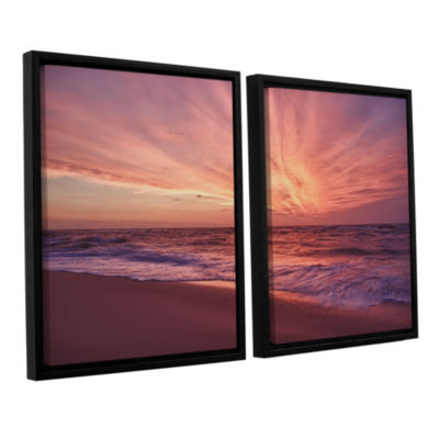 Brushstone Outer Banks Sunset III 2-pc. Floater Framed Canvas Wall Art