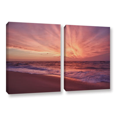Brushstone Outer Banks Sunset III 2-pc. Gallery Wrapped Canvas Wall Art