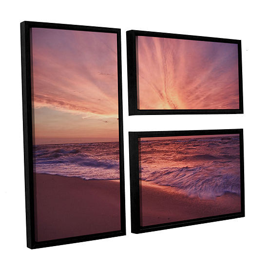 Brushstone Outer Banks Sunset III 3-pc. Flag Floater Framed Canvas Wall Art