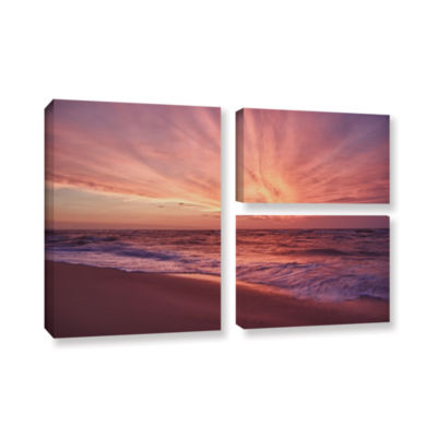 Brushstone Outer Banks Sunset III 3-pc. Flag Gallery Wrapped Canvas Wall Art