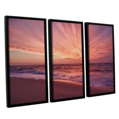 Brushstone Outer Banks Sunset III 3-pc. Floater Framed Canvas Wall Art