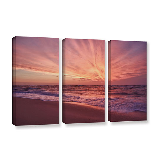 Brushstone Outer Banks Sunset III 3-pc. Gallery Wrapped Canvas Wall Art