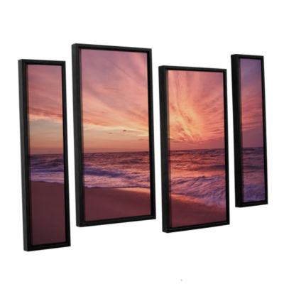 Brushstone Outer Banks Sunset III 4-pc. Floater Framed Staggered Canvas Wall Art
