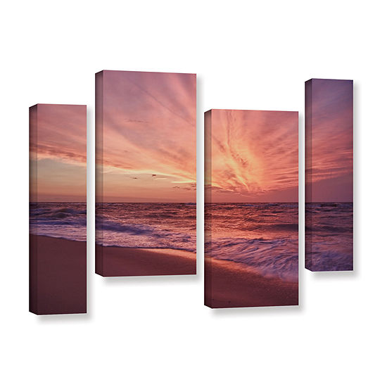 Brushstone Outer Banks Sunset III 4-pc. Gallery Wrapped Staggered Canvas Wall Art