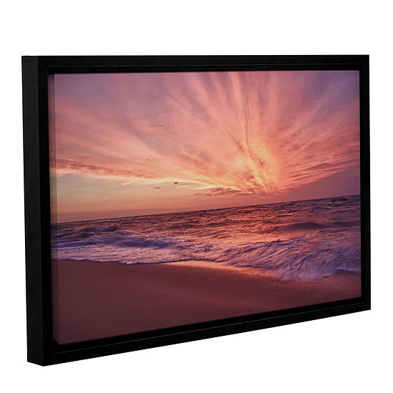 Brushstone Outer Banks Sunset III Gallery Wrapped Floater-Framed Canvas Wall Art