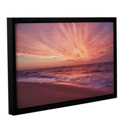 Brushstone Outer Banks Sunset III Gallery WrappedFloater-Framed Canvas Wall Art