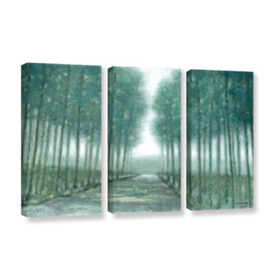 Brushstone Path Of Least Resistance 3-pc. GalleryWrapped Canvas Wall Art