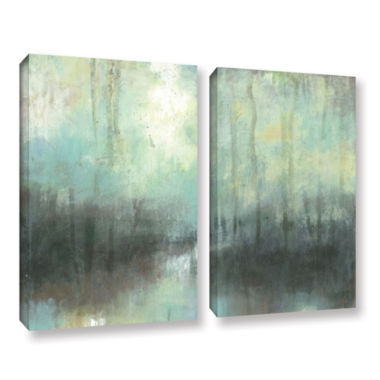 Brushstone Overcast 2-pc. Gallery Wrapped Canvas Wall Art