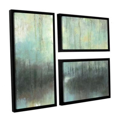Brushstone Overcast 3-pc. Flag Floater Framed Canvas Wall Art