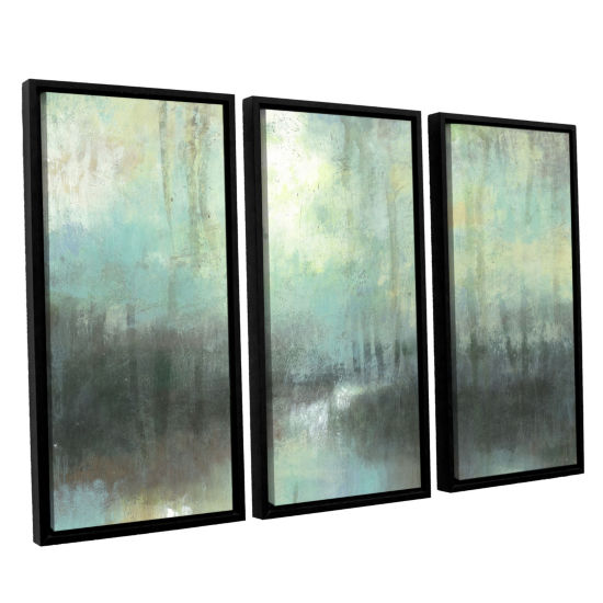 Brushstone Overcast 3-pc. Floater Framed Canvas Wall Art
