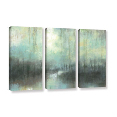 Brushstone Overcast 3-pc. Gallery Wrapped Canvas Wall Art