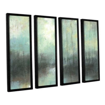 Brushstone Overcast 4-pc. Floater Framed Canvas Wall Art