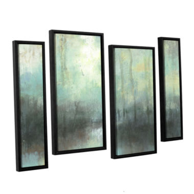 Brushstone Overcast 4-pc. Floater Framed StaggeredCanvas Wall Art