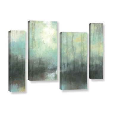 Brushstone Overcast 4-pc. Gallery Wrapped Staggered Canvas Wall Art