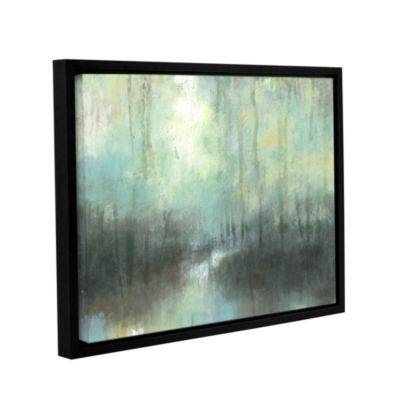 Brushstone Overcast Gallery Wrapped Floater-FramedCanvas Wall Art