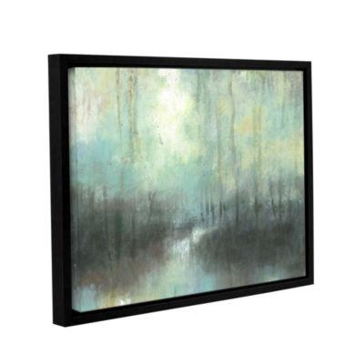 Brushstone Overcast Gallery Wrapped Floater-FramedCanvas Wall Art
