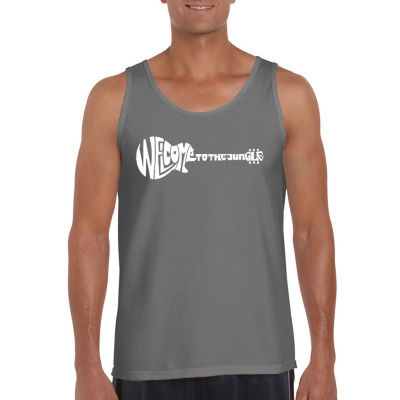 Los Angeles Pop Art Welcome To The Jungle Mens Tank Top Big and Tall