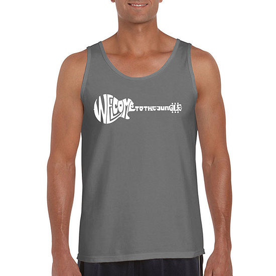 Los Angeles Pop Art Big and Tall Welcome To The Jungle Mens Tank Top