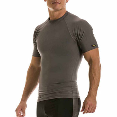 Insta Slim Men's Compression Short Sleeve Raglan Shirt
