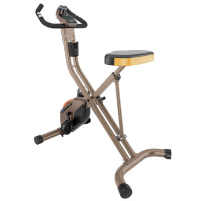 Exerpeutic Gold 500 Xls 400Lb Weight Capacity Folding Upright Exercise Bike