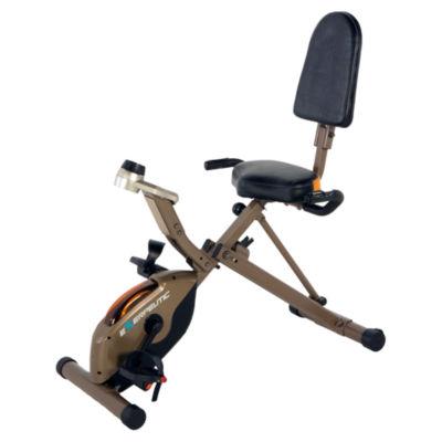 Exerpeutic Gold 525XLR Folding 400 Lb Maximum Capacity Recumbent Exercise Bike