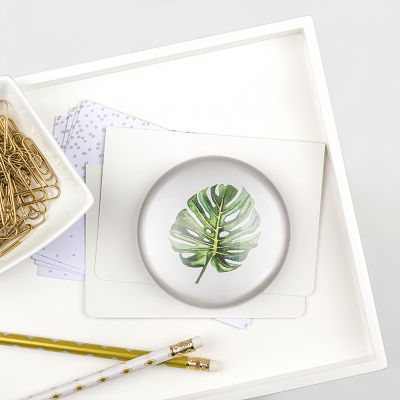 Cathy's Concepts Palm Domed Glass Paperweight