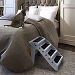 Petmaker Folding Plastic Pet Stairs in Gray