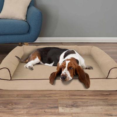 Petmaker Orthopedic Pet Sofa Bed with Memory Foamand Foam Stuffed Bolsters