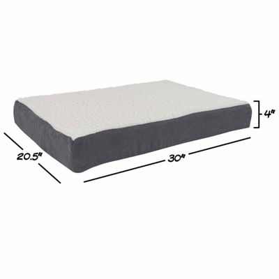 Petmaker Orthopedic Sherpa Top Pet Bed with MemoryFoam and Removable Cover