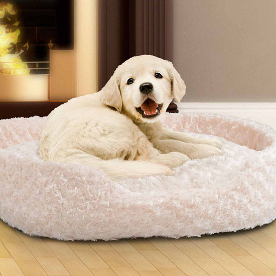Petmaker Cuddle Round Plush Pet Bed