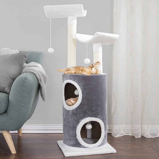 Petmaker Cat Tree 5 tier Double Decker Condo with4 toys