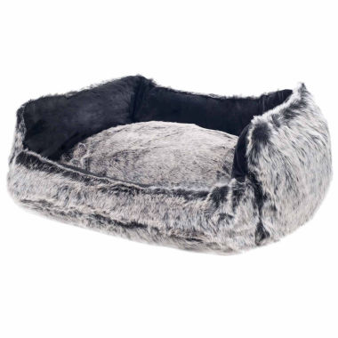 Petmaker Faux Fur Black Mink Dog Bed