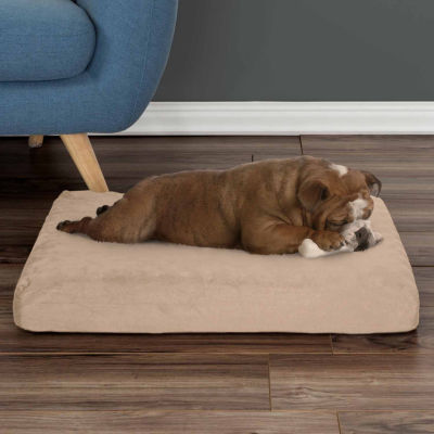 Petmaker Orthopedic Pet Bed with Egg Crate and Memory Foam with Washable Cover in Tan