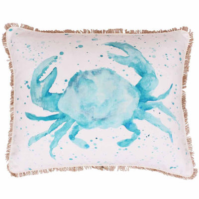 Thro by Marlo Lorenz Carmello Crab Splatter Printed Throw Pillow