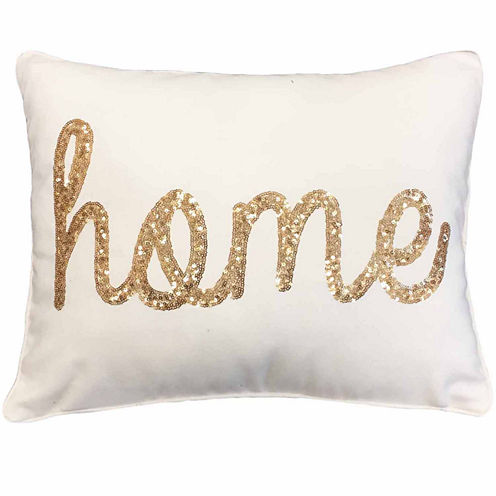 Thro by Marlo Lorenz Home Sequin Script Throw Pillow