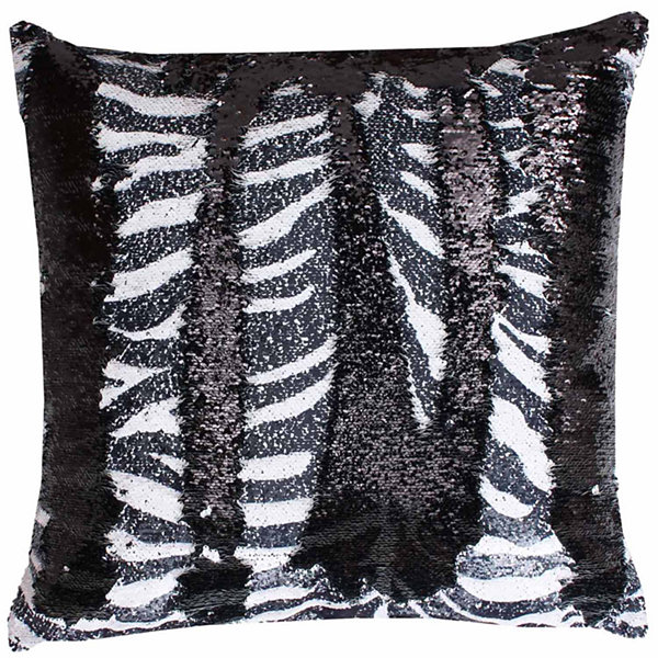 Thro by Marlo Lorenz Zenny Zebra Reversible SequinThrow Pillow