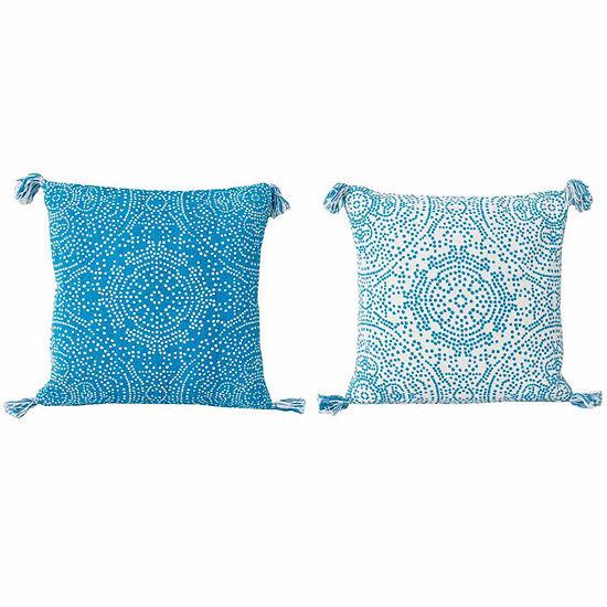 Thro by Marlo Lorenz Reversible Kerra Dot Throw Pillow