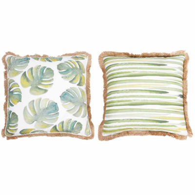 Thro by Marlo Lorenz Frances Watercolor Beaded Pillow